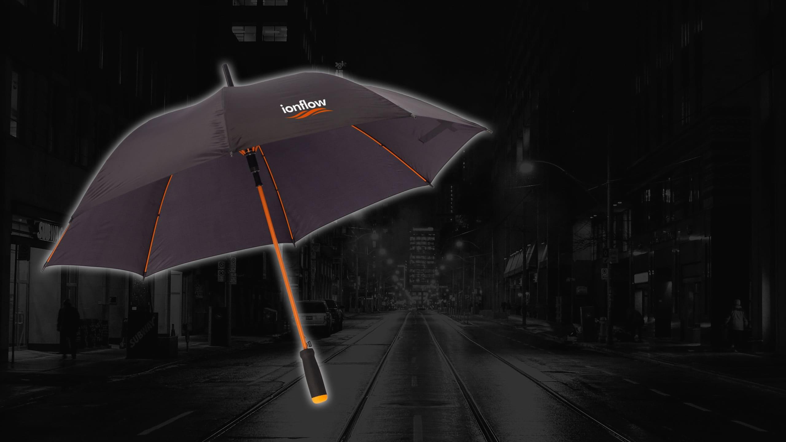 Regenschirm Colorado Black mit Logo