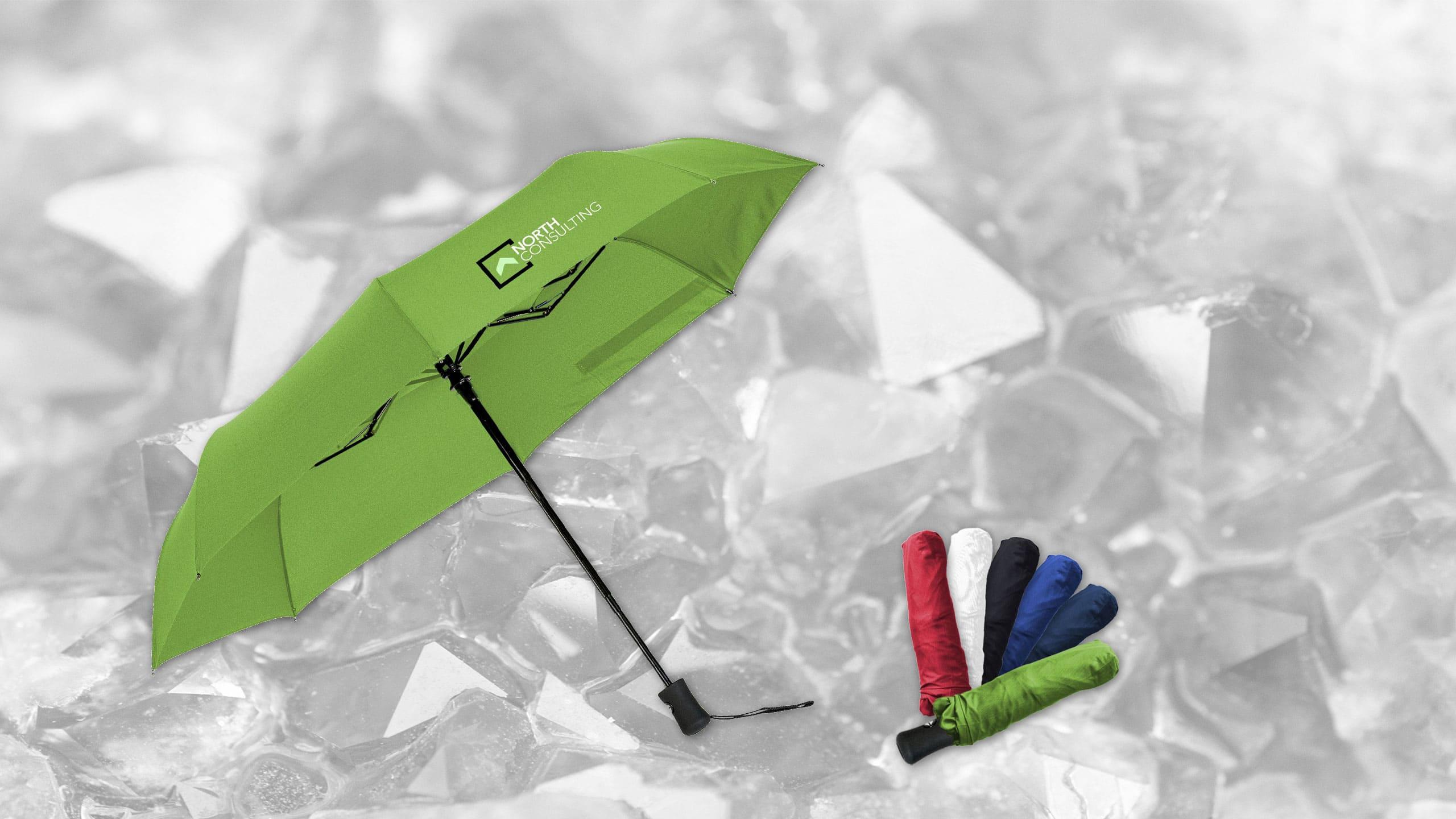 Taschenschirm Impulse mit Logo